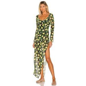 Lovers+Friends Citrina Midi Dress in Lemon Floral